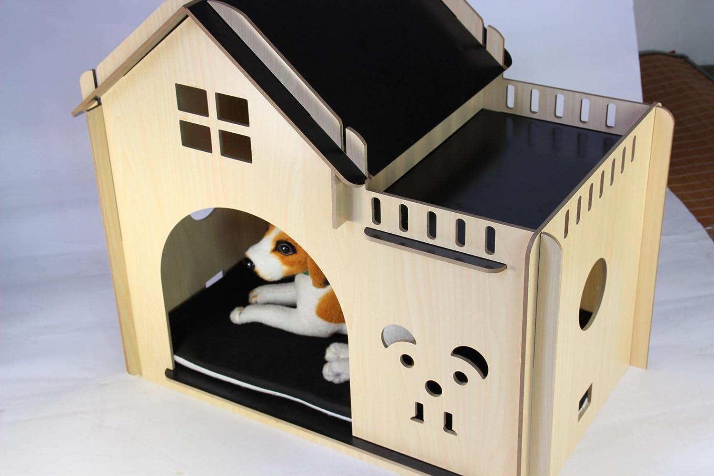 Casetas para animales perro o gato apartamentos casas rurales de madera: Amazon.es: Deportes y aire libre