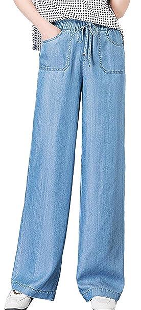 BIRAN Damas Jeans Acampanados Pantalones Vaqueros De Novio ...