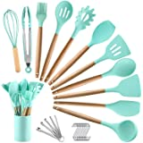 BECBOLDF 27 Kitchen Utensil Set - Silicone Cooking Utensils - Wooden Kitchen Utensils Set - Silicone Spatula Set Utensil…