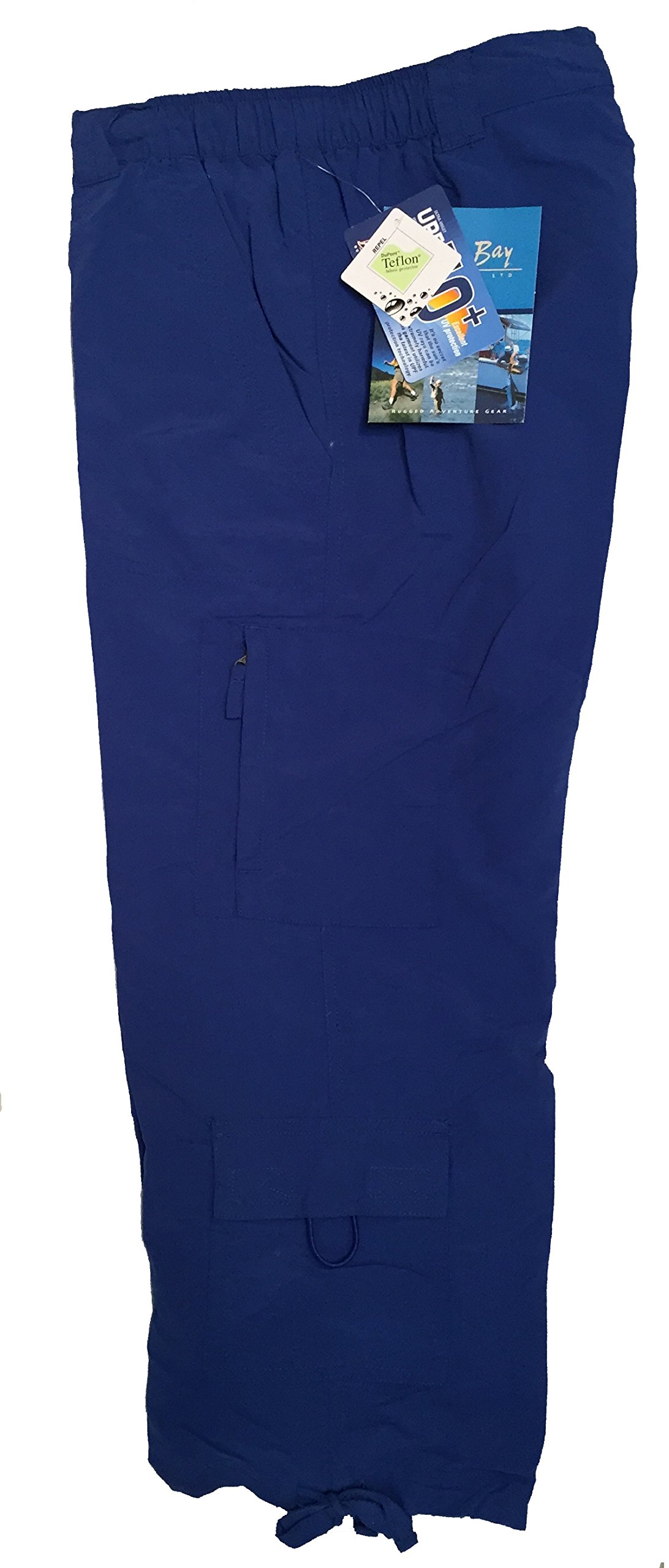 Bimini Bay Outfitters Women's Nylon Travel Capri (12, True Blue) by Bimini Bay Outfitters