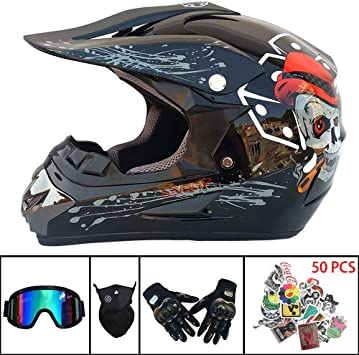 NJYBF Motocross Motorradhelm ATV-Roller-Downhill-Schutzhelm Doppel-Sport-Motocross-Helm MTB Downhill Dirt Bike BMX crosshelm kinder unisex erwachsenen gel/ändehelm.Cross-country. XL