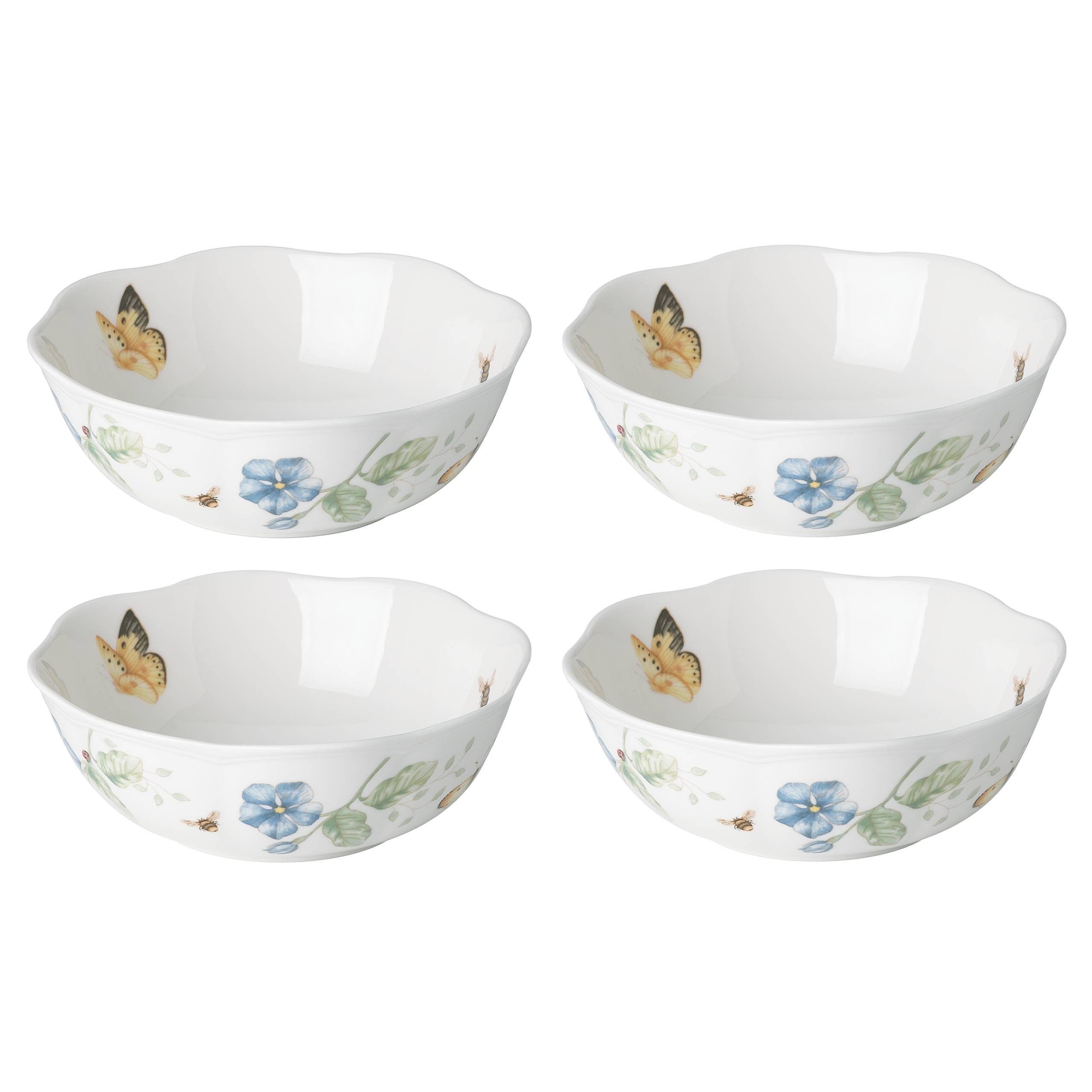 Lenox 880121 Butterfly Meadow All All Purpose Bowls (Set of 4), 20 oz, Multicolor