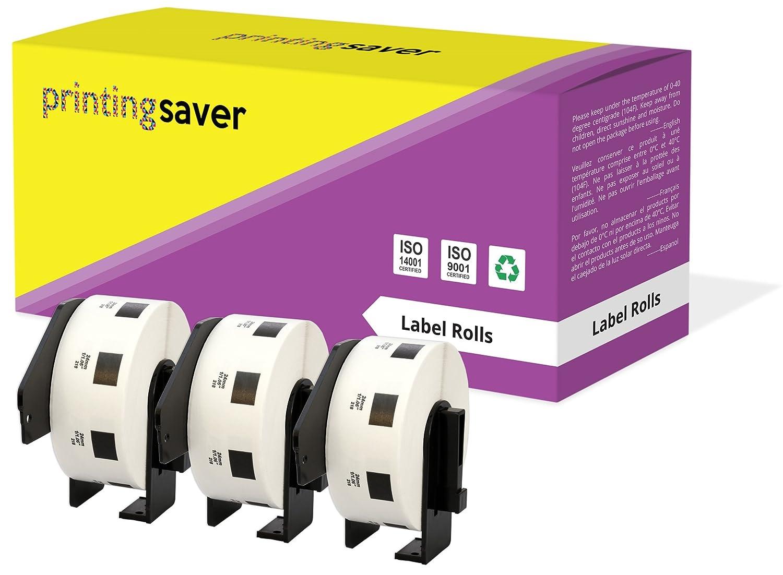 compatibles para Brother P-Touch QL-1110NWB QL-1100 QL-1060N QL-500 QL-570 QL-700 QL-710W QL-800 QL-810W QL-820NWB 400 Etiquetas por Rollo 3X DK-11201 29 x 90 mm Rollos de Etiquetas de direcci/ón