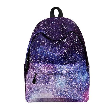 23873c72dfb2ae Donne zaino per ragazze adolescenti scuola zaino borsa stelle universo  Spazio stampa femmina Canvas zaini per