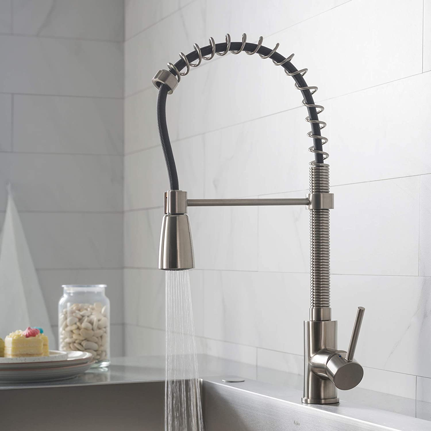 Best Kitchen Faucets.Kraus Kpf 1612ss Single Lever Pull Down Kitchen Faucet In Stainless Steel