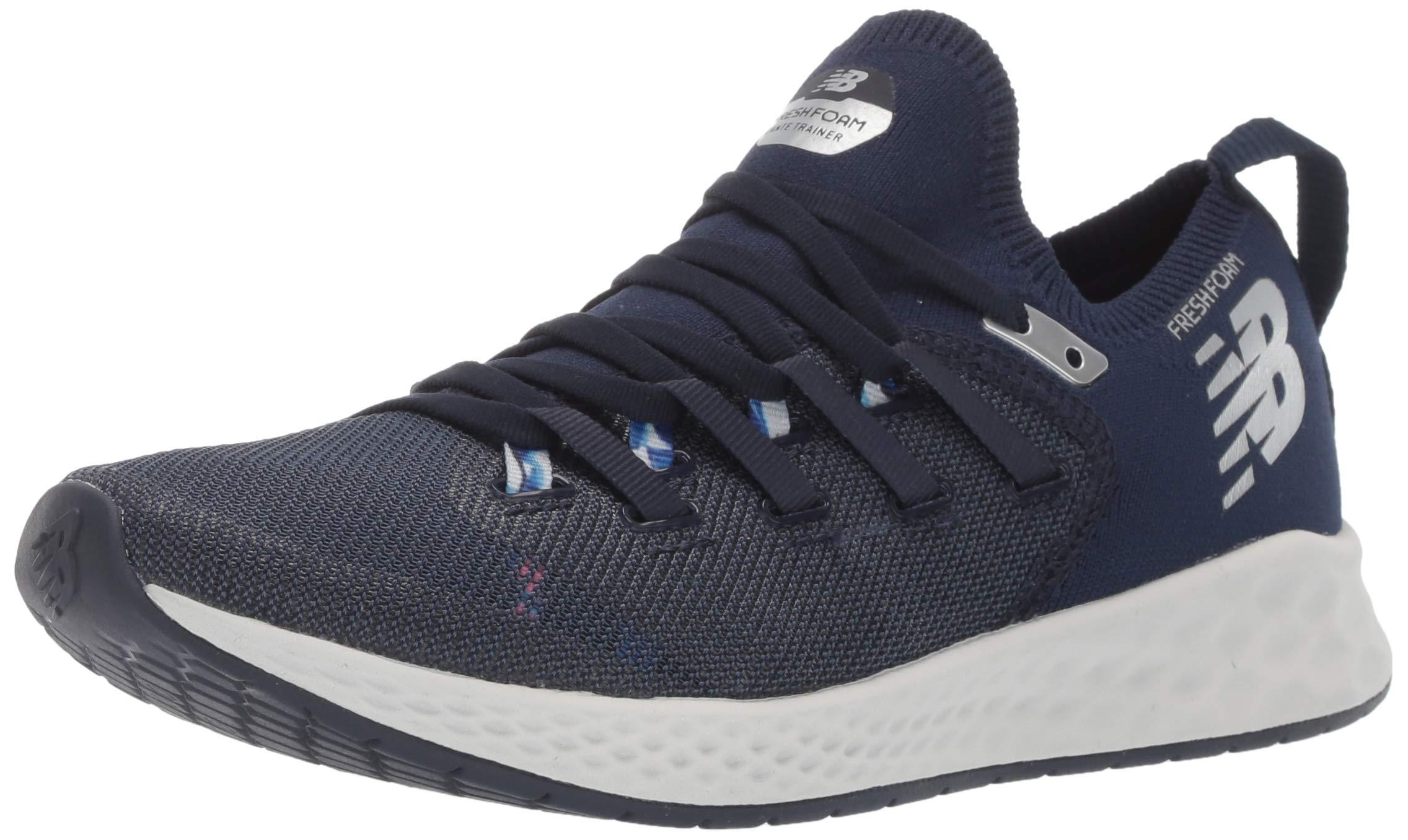 New Balance Women's Zante Trainer V1 Fresh Foam Running Shoe, Pigment/Bleached Guava/UV Blue, 5 B US
