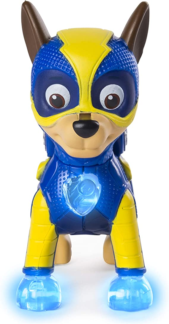 Amazon.com: PAW Patrol Mighty Pups Chase Figura con insignia ...