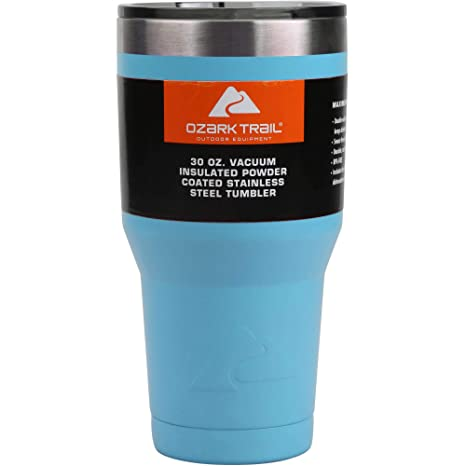 fbe09016638 Amazon.com | Ozark Trail 30-Ounce Double-Wall, Vacuum-Sealed Tumbler (  Blue): Tumblers & Water Glasses