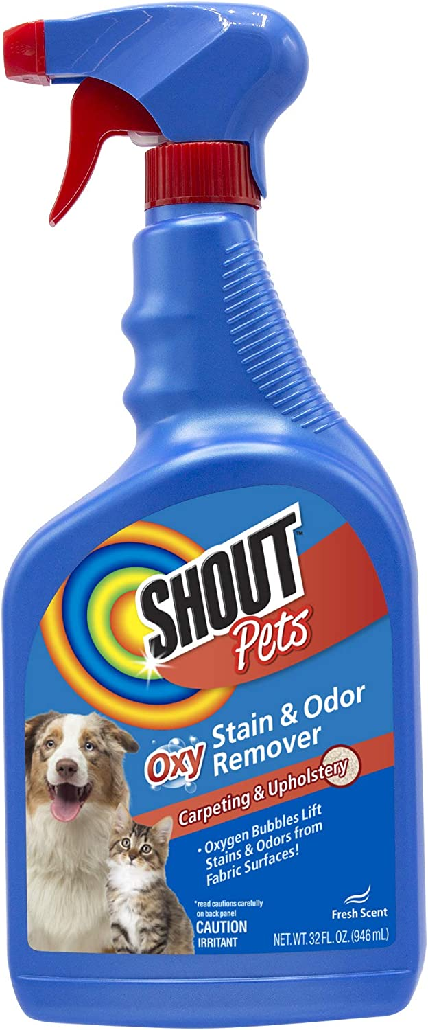 Shout for Pets Turbo Oxy Stain and Odor Remover Spray | Carpet Cleaner Spray and Odor Eliminator in Fresh Scent, 32 Ounces