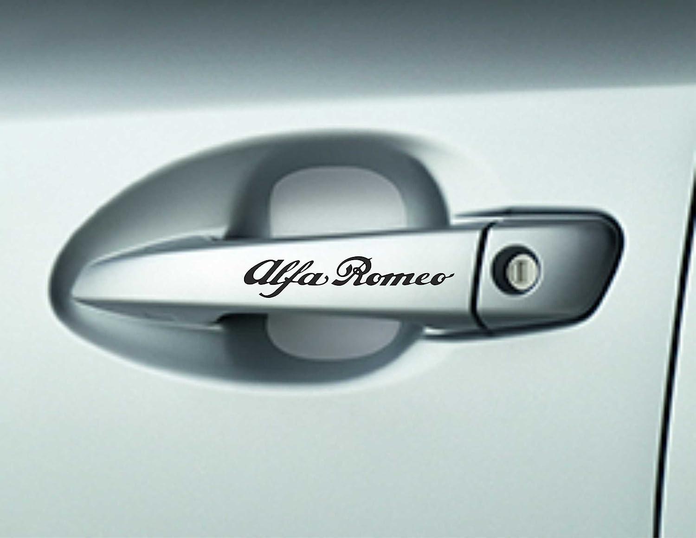 6 X Alfa Romoe Türgriffe Premium Qualität Kleber Aufkleber Autoaufkleber Auto