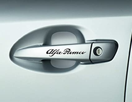 6 x Alfa romoe – Mangos de puerta Adhesivos Pegatinas Adhesivos Calidad Premium Pegatina para coche