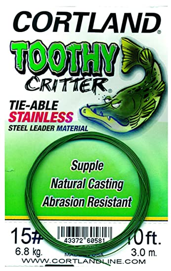 able Stainless Steel Leader NEW 10 LB 605800 Cortland Toothy Critter Tie