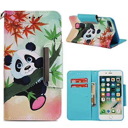 iPhone 7 Plus/8 Plus Case,Fashion Magnetic Closure PU Leather 3D Printing Wallet
