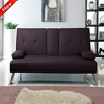 Incredible Popamazing Cinema Style Futon Sofabed With Drinks Table Sofa Bed By Southern Sofa Beds Brown Squirreltailoven Fun Painted Chair Ideas Images Squirreltailovenorg