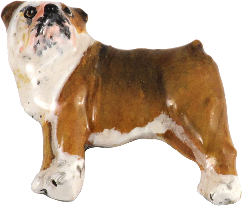 PinMart Silver 3D English Bulldog Dog Breed Dog Lover Lapel Pin