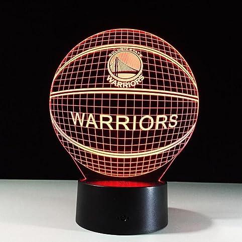 CARYY 3D LED Illusion Lamp, 7 Colors Remote Control Dimensional Visual  Basketball Light, Optical