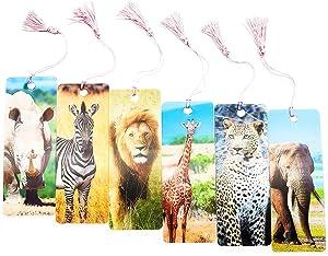 Lenticular Tassel Bookmarks with Ruler for Kids, Students (12 Pack)