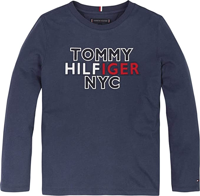 Tommy Hilfiger Baby-Jungen Girl Tommy Tee L//S T-Shirt