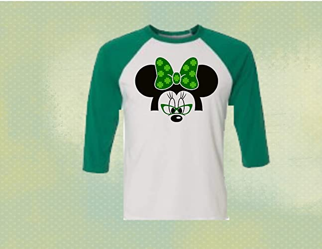 645f8181e Amazon.com: Handmade Disney St.Patrick Day Mickey Mouse Raglan: Handmade