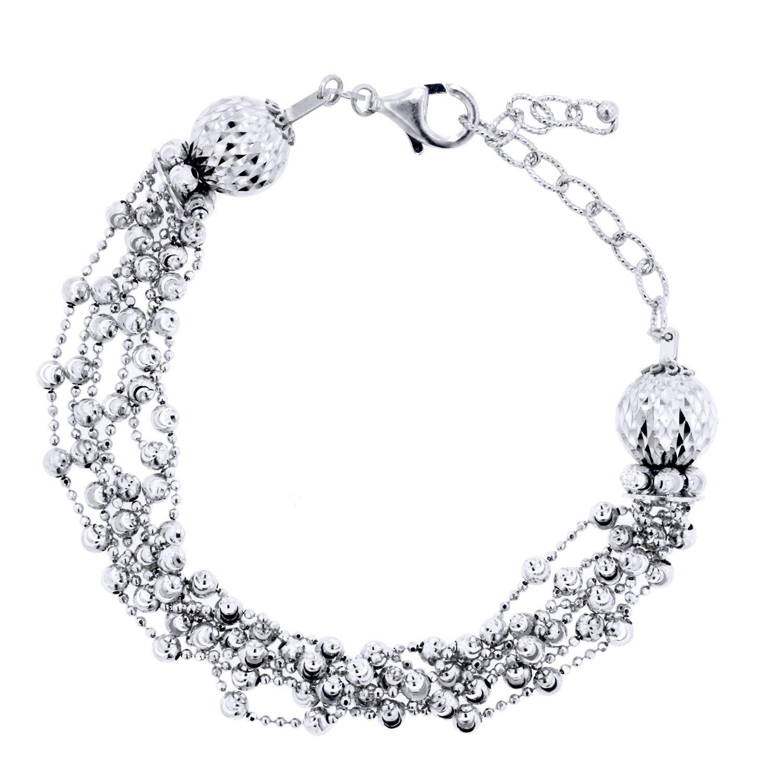 Officina Bernardi Sterling Silver Tassel Stand Bracelet, 7'' with 2'' Extender