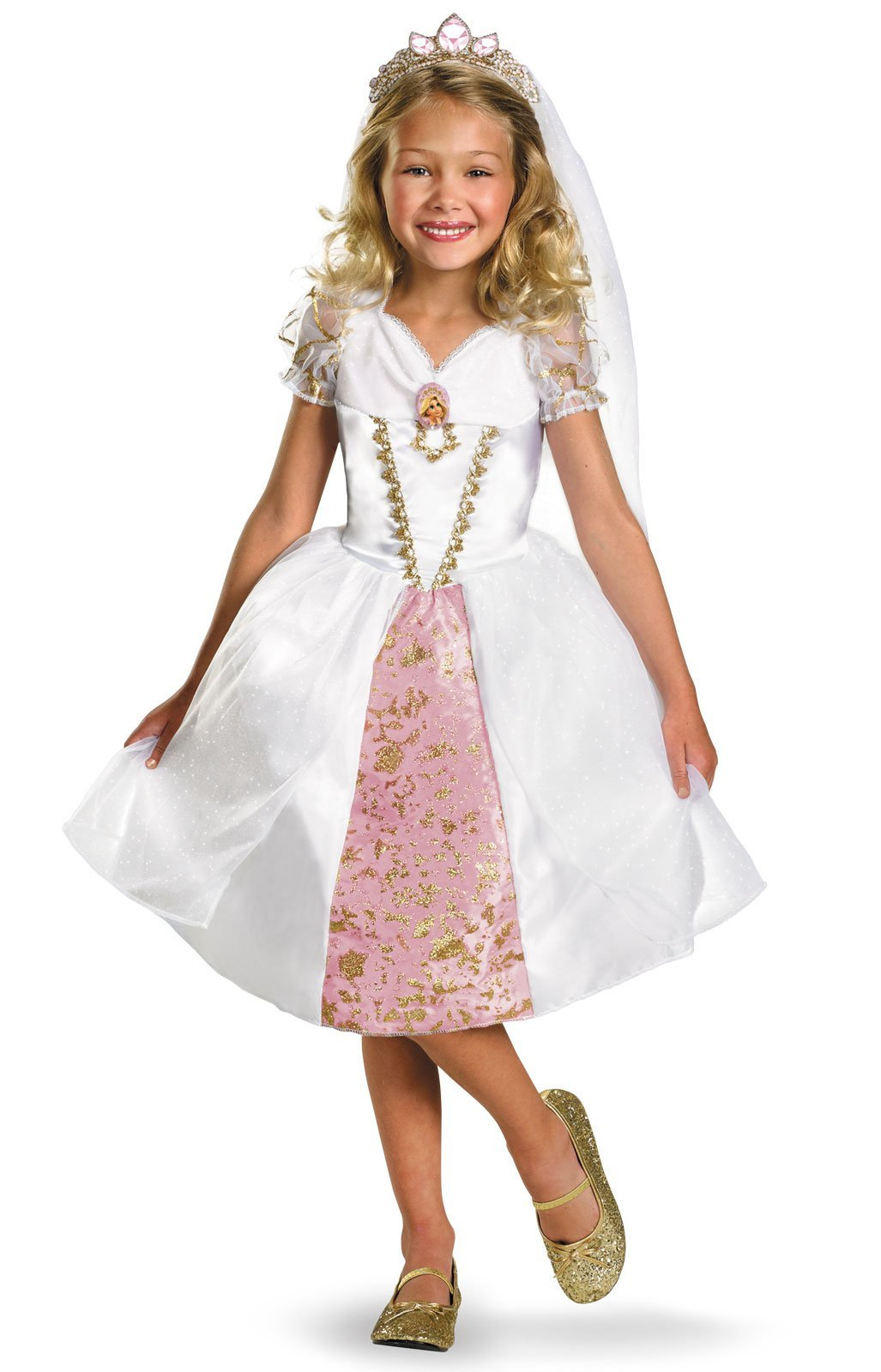 Rapunzel Wedding Gown Child Costume - Small by Disguise