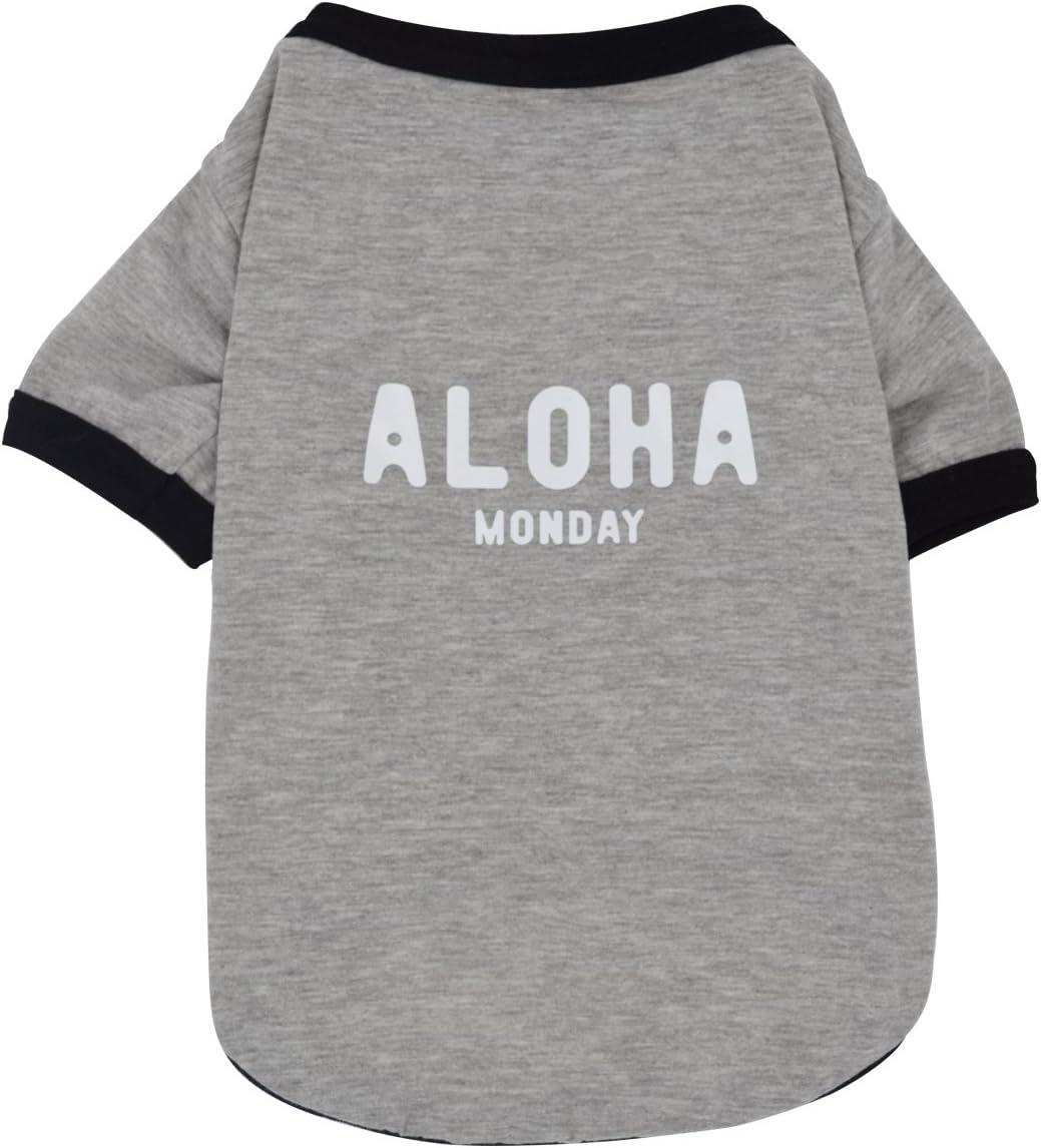 Yuno nueva mascota ropa comodidad primavera y verano temporadas Fashion camiseta de algodón perro cachorro gato chaleco: Amazon.es: Productos para mascotas