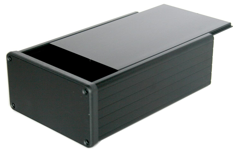 BOX3 - 1455 N-bk negro caja de aluminio, para 3U tamaño PCB, con ...