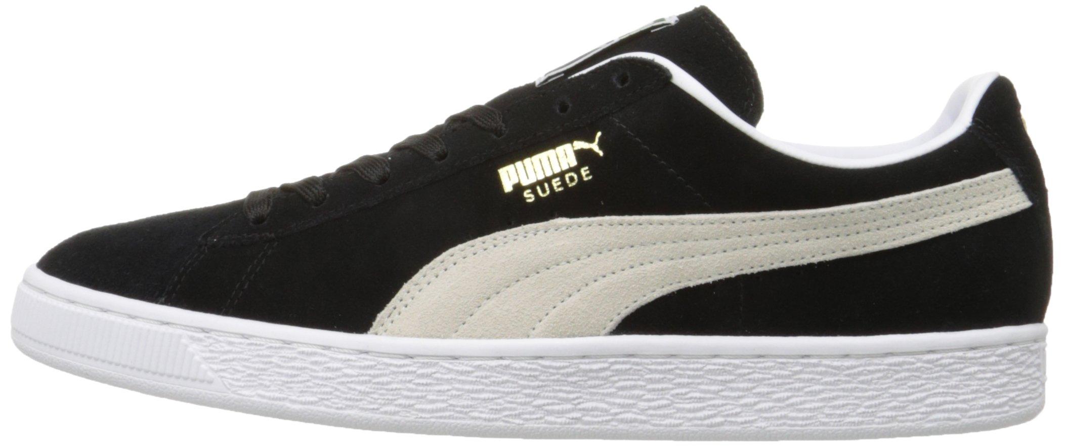 PUMA Suede Classic Sneaker,Black/White,9.5 M US Men's by PUMA (Image #5)