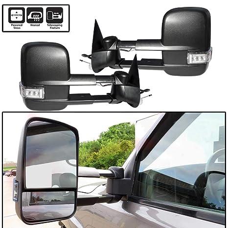 Fits 07-13 Sierra Yukon Towing Mirrors Power Heated Signal Arrow Clearance Light
