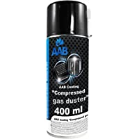 AAB Compressed Gas Duster 400ml - Compressed Air for Cleaning Computer, Keyboard, and Other Office Equipment | Laptop Cleaner | PC Cleaning Kit | Air Duster | Can of Air | Aerosol Duster | Canned Air