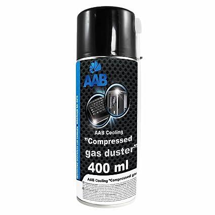 AAB PC Spray Limpiador 400ml - Limpiar Teclados, Ordenadores, Copiadoras, Cámaras, Impresoras