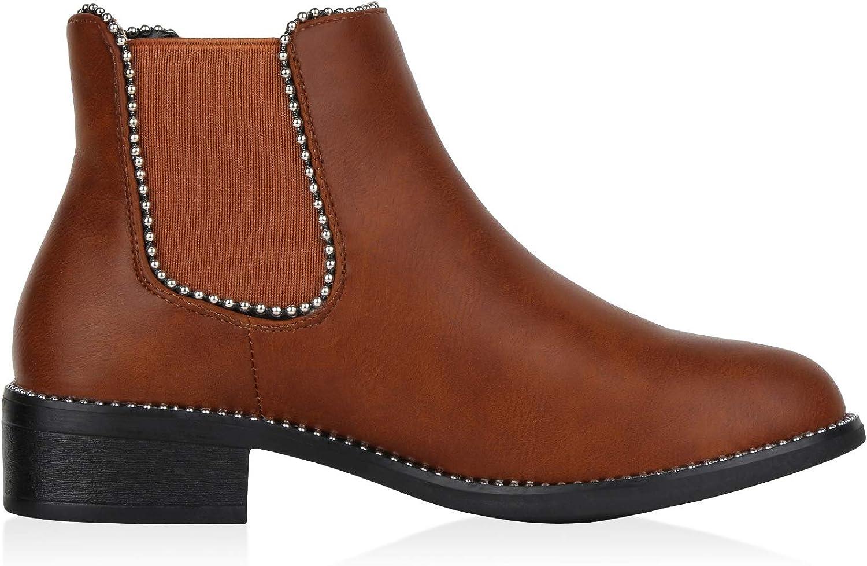 Guter Verkauf Qualität Sammlungen SCARPE VITA Damen Stiefeletten Chelsea Boots mit Blockabsatz Ketten Hellbraun Braun 0QqxM 8VdSG GfGvJ