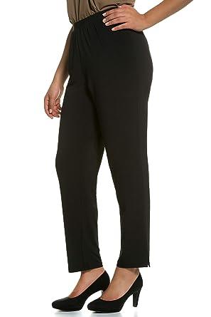 ee4ab5bc5 Ulla Popken Women s Plus Size Relaxed Fit Straight Leg Pants Black 28 30  701149 10