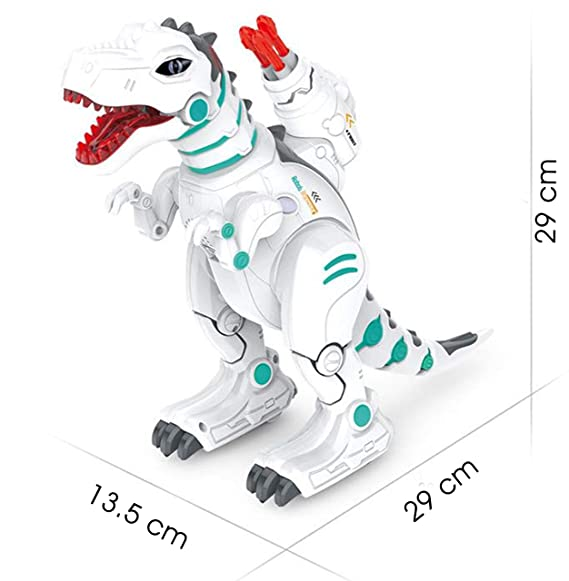 Zest 4 Toyz Electric Remote Control Waking Robot Dinosaur Toy for Kids - Fire Spray Effect, On Wheels, Wireless Remote Control, Sound & Music , Intelligent Robot Programming Early Education Toy