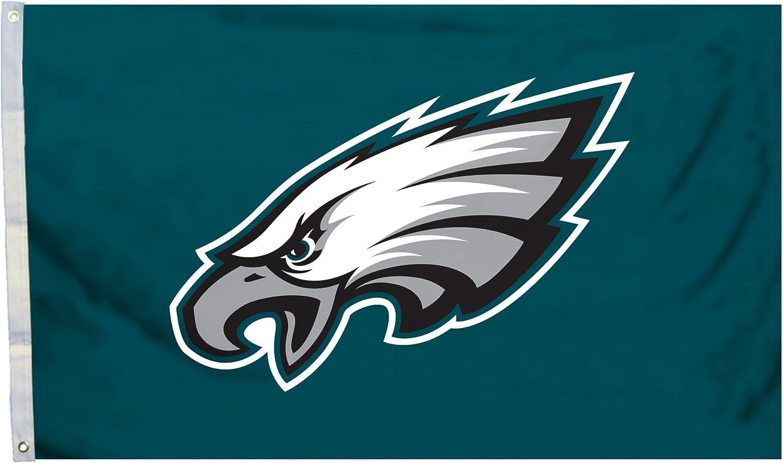 Fremont Die NFL Philadelphia Eagles 3' x 5' Flag with Grommets, 3 x 5-Foot, Logo