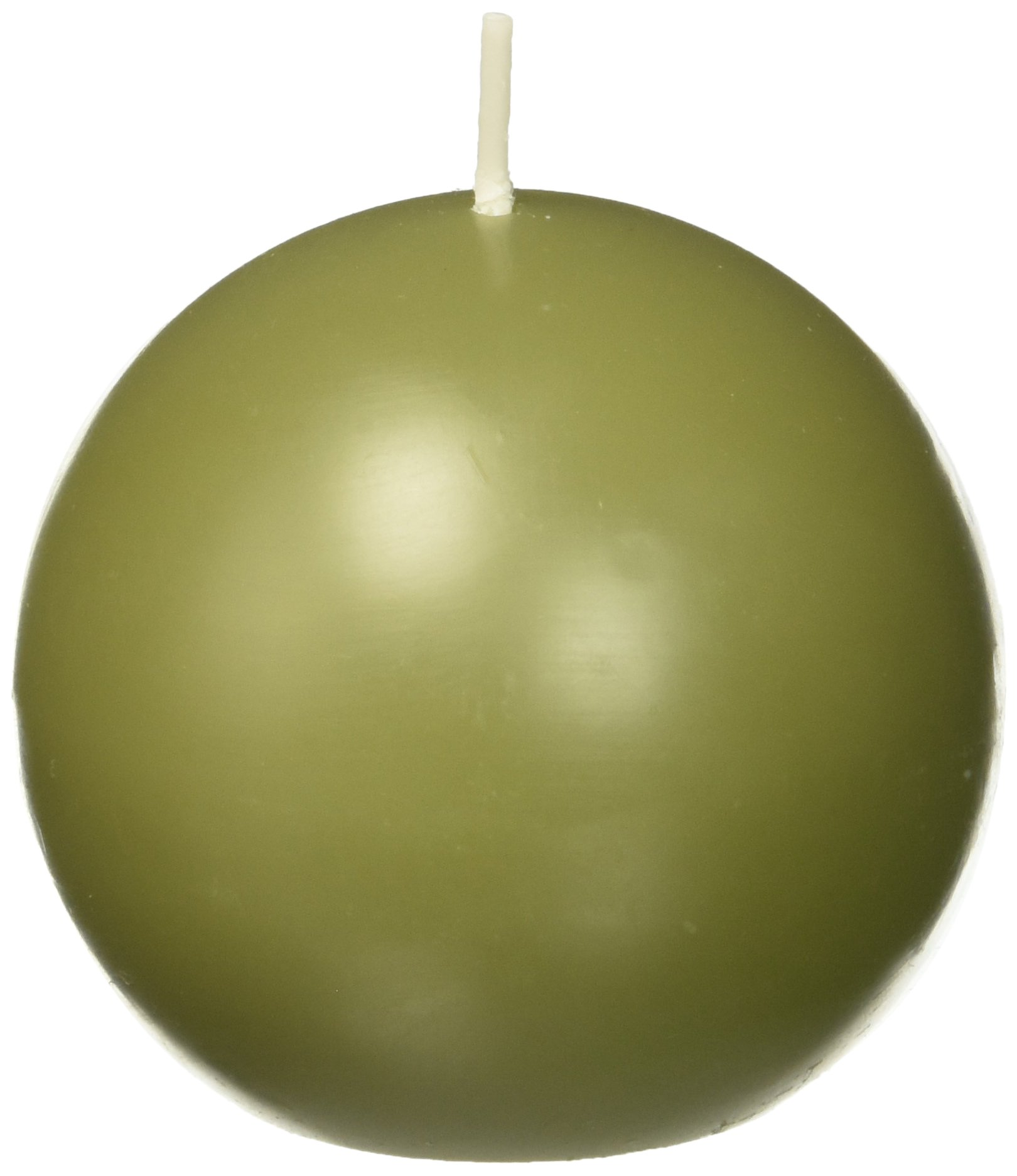 Zest Candle 6-Piece Ball Candles, 3-Inch, Sage Green