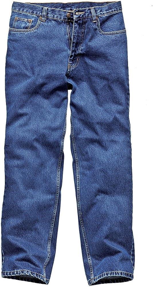 Dickies WD1693 BU - Pantalones de trabajo (vaqueros, lavados a la piedra), color azul