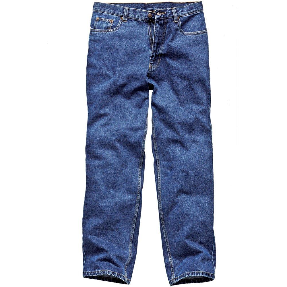 TALLA 96,52 x 81,28 cm. Dickies WD1693 BU - Pantalones de trabajo (vaqueros, lavados a la piedra), color azul