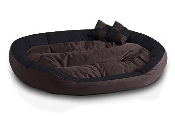 BedDog 4 en 1 SABA marron/negro XXXL aprox. 150x120cm colchón para perro,