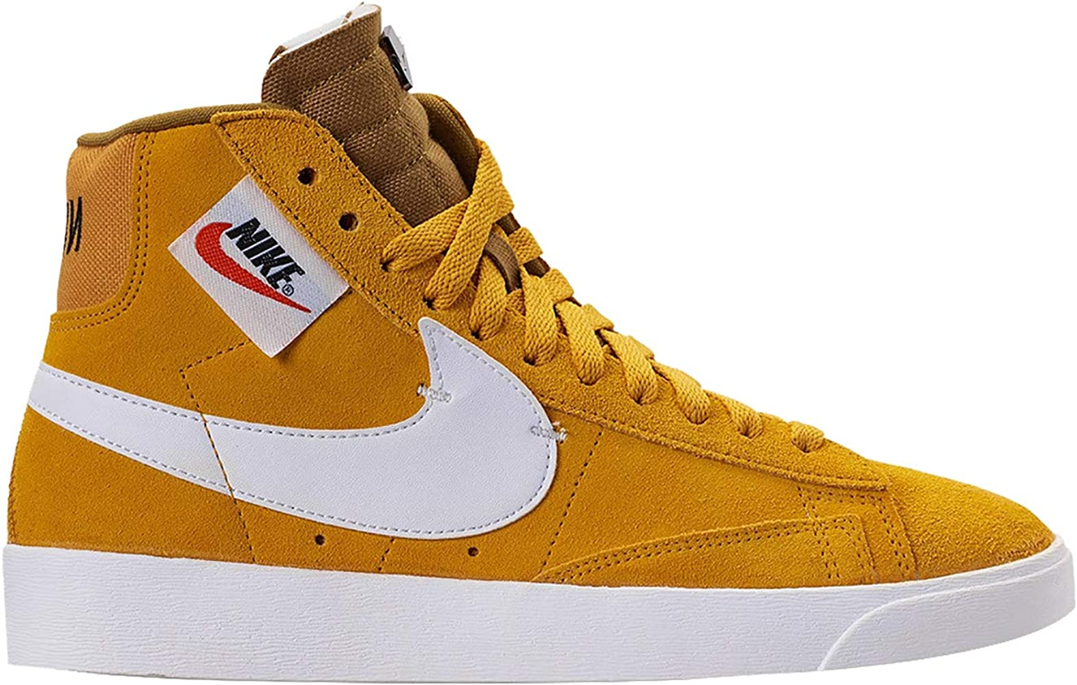 the best attitude 3dde7 3adbf Nike Women s Blazer MID Rebel Yellow Ochre Black Golden Moss Summit White  BQ4022