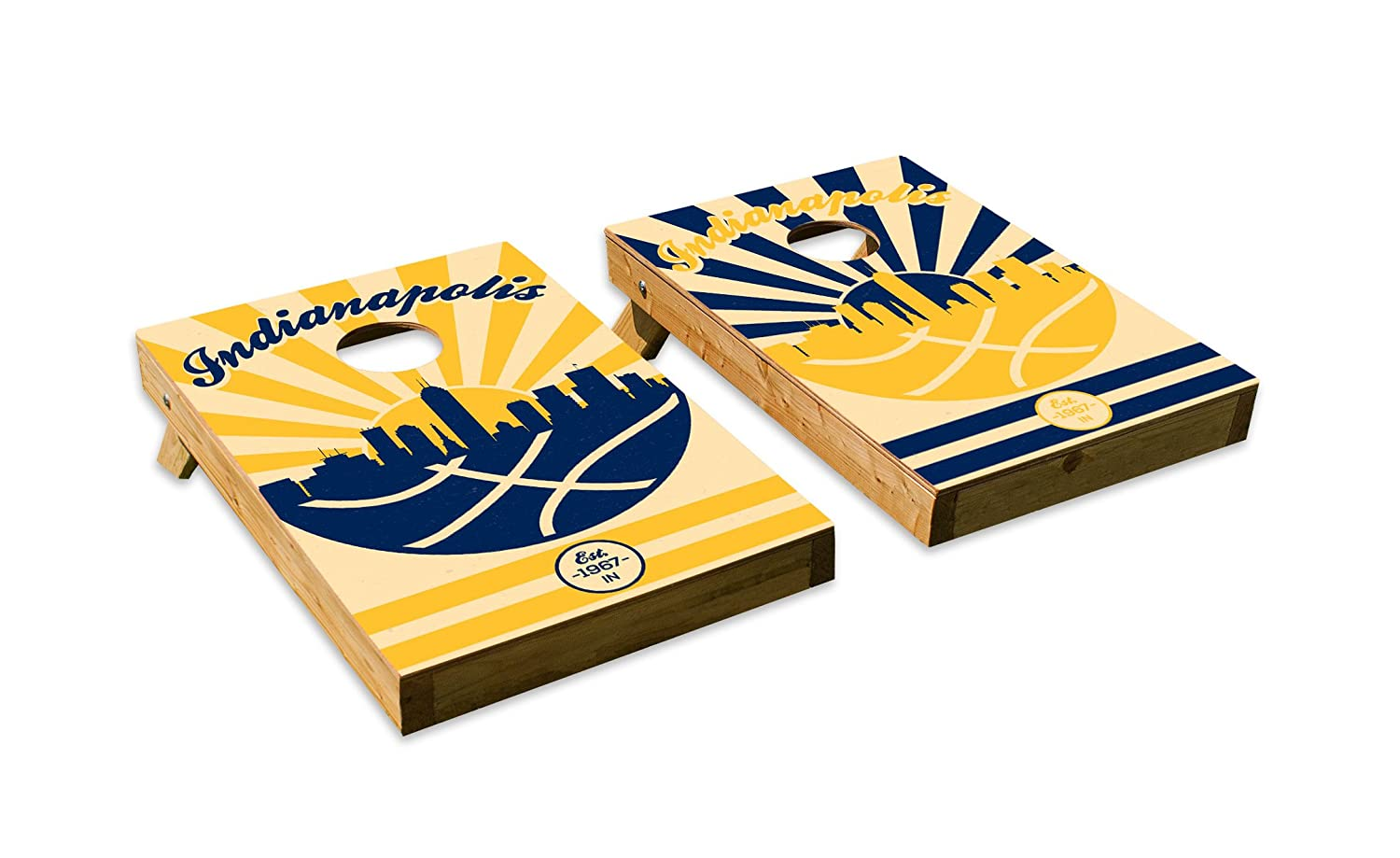 Indianapolis ColtsデザインCornhole/Bean Bag Tossボードセット – Made in USA木製 – 2 ' x3 'テールゲートサイズ – Includes 8 corn-filled Beanバッグ B07F16X6MZ Parent  Tailgate