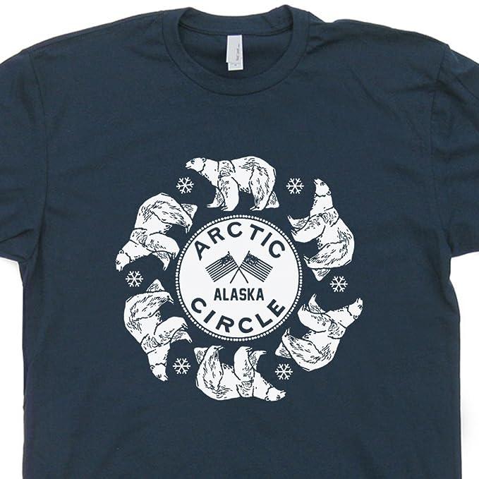 241571211d4 S - Arctic Circle T Shirt Alaska Tee Polar Bear Colorado Ski Mount Everest  Montana North