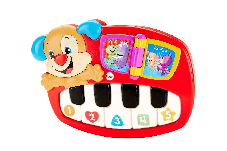 Fisher Price le Piano de Puppy, jouet interactif musical et lumineux avec modes de jeu apprentissage et musique, pour bébé dès 6 mois, DLD20