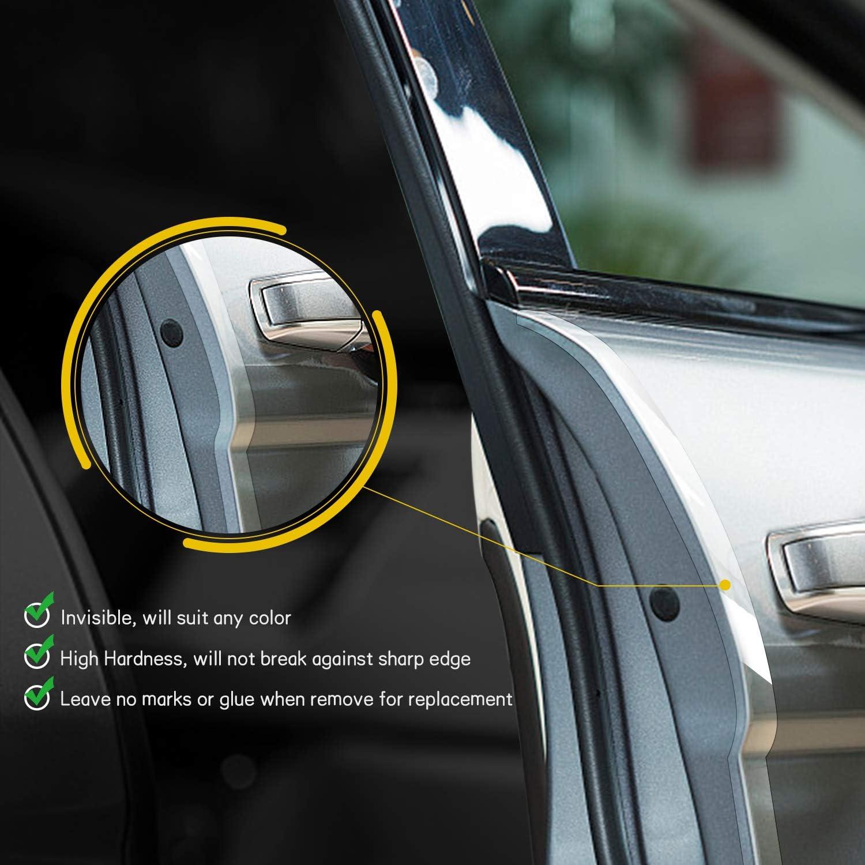 Protecteur de Joint en Caoutchouc Auto-adh/ésif pour Bord de Voiture adapt/é HIMETSUYA 2 pi/èces Garde de Bord de Porte de Voiture 5 m Bande de Protection de Bord de Porte de v/éhicule de 16,4 pi