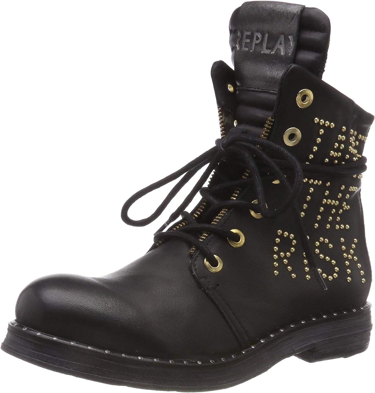 Schwarz (schwarz 3) 37 EU Replay Damen Stake Biker Stiefel