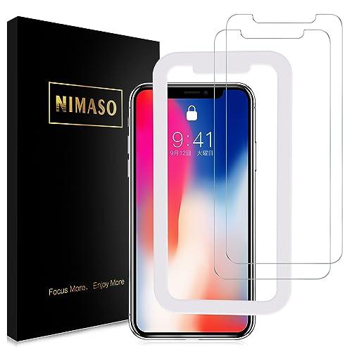【2枚セット】Nimaso iPhoneX 用 強化ガラス液晶保護フィルム