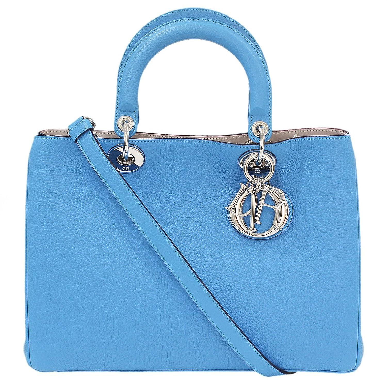 (ディオール)Dior ディオリッシモ トリヨンレザー 2way ハンドバッグ 青 箱袋 中古 B072JC2T17