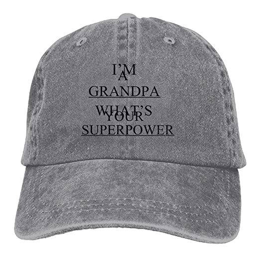 86f64aa544377 FBGVFD Grandpa Superpower Baseball Caps Patriotic Adjustable Personalized  Hats For Teen Boys