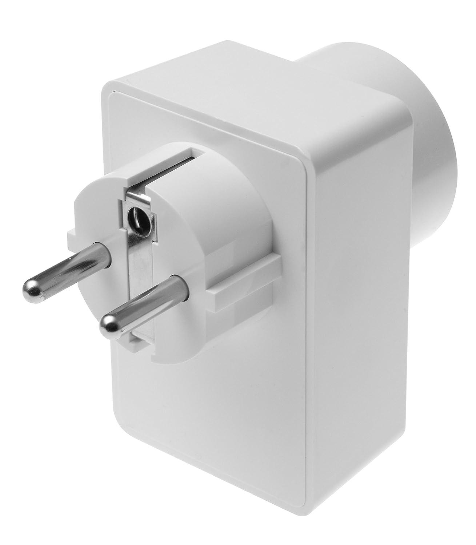 funzione ZigBee ripetitore Presa radio con contatore di corrente e ripetitore ZigBee accensione e spegnimento automatici dei consumatori 230V 12051 Bianco Lupusec 12050 indicatore di consumo energetico