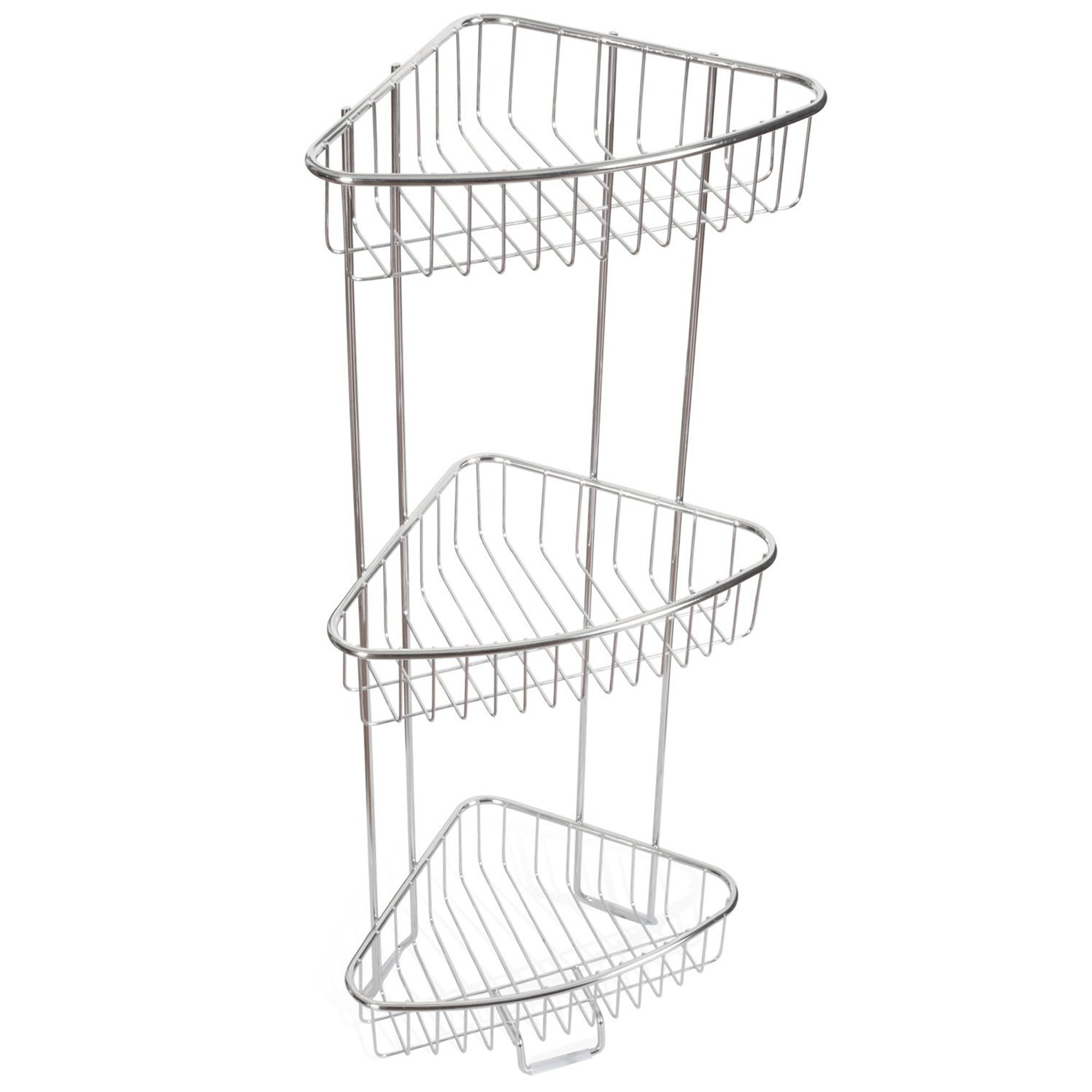 ToiletTree Products Rust Proof Stainless Steel Shower Floor Caddy, 3 Tiers by ToiletTree Products